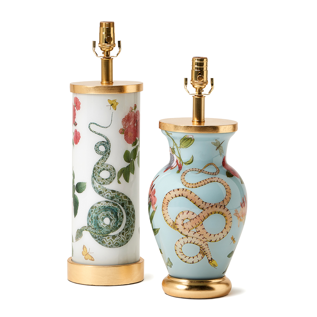 floral-white-blue-snakes-gold-eden-lamp-collection-liz-marsh-designs