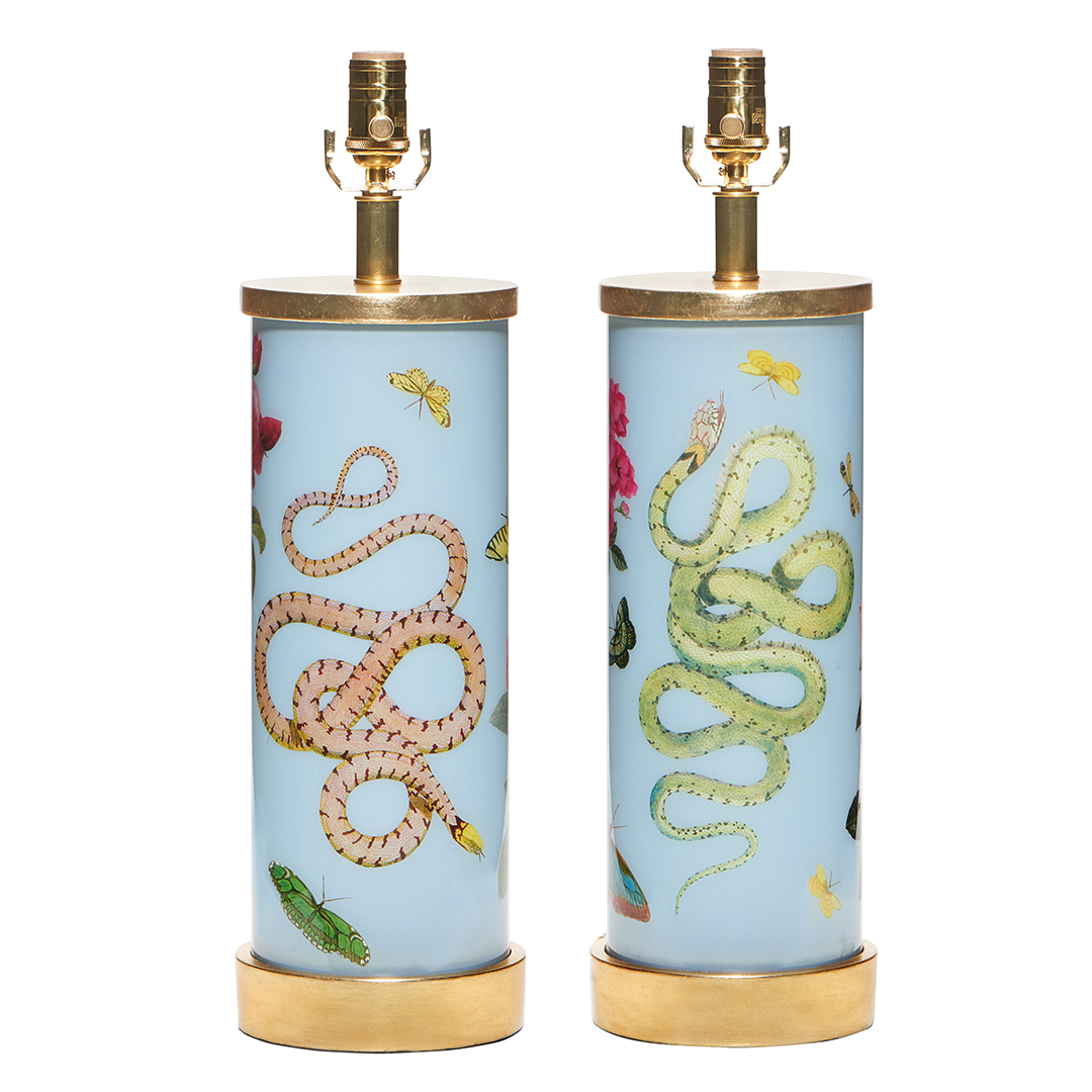 green-pink-serpent-blue-gold-eden-lamp-collection-liz-marsh-designs