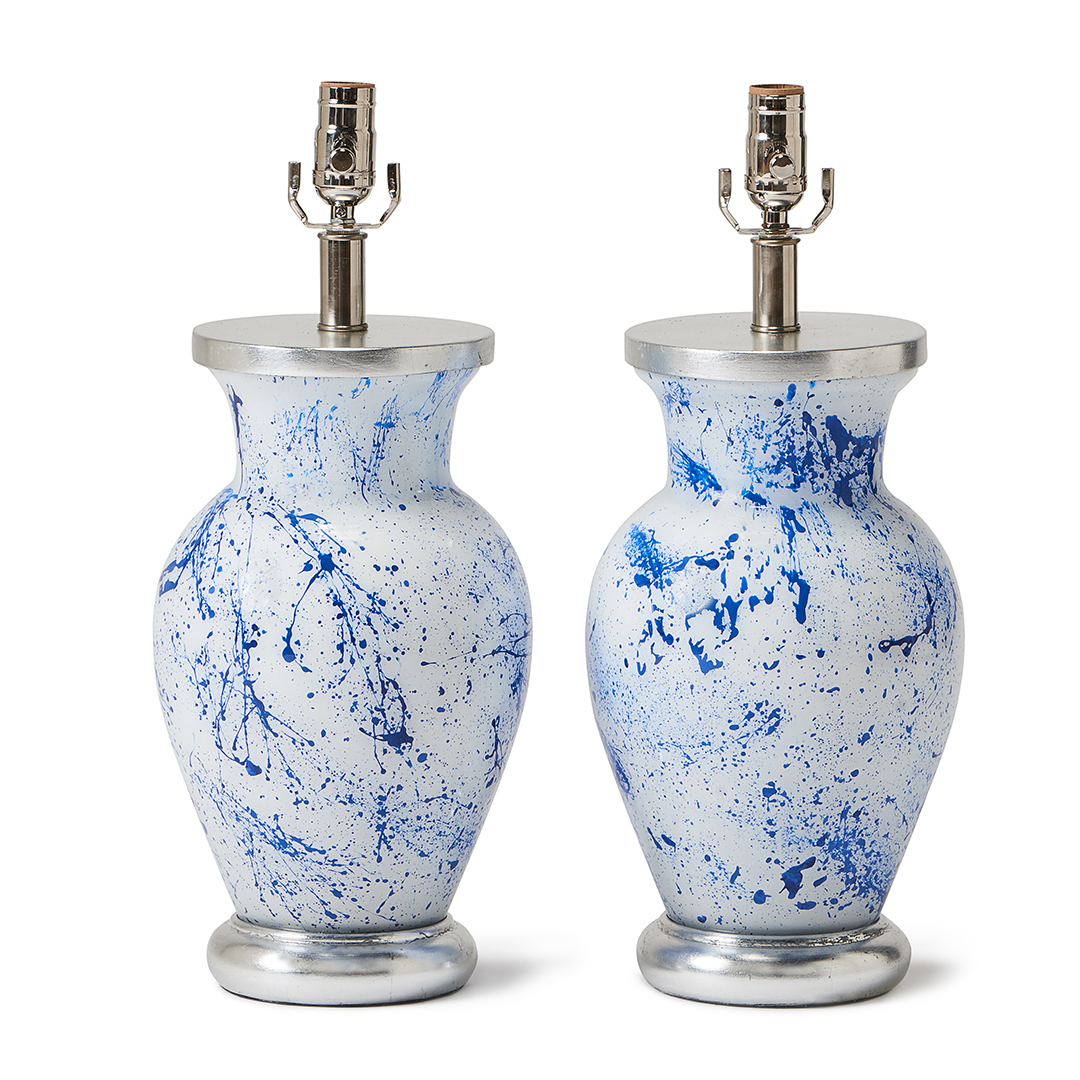 white-blue-splatter-sliver-base-pop-lamp-collection-liz-marsh-designs