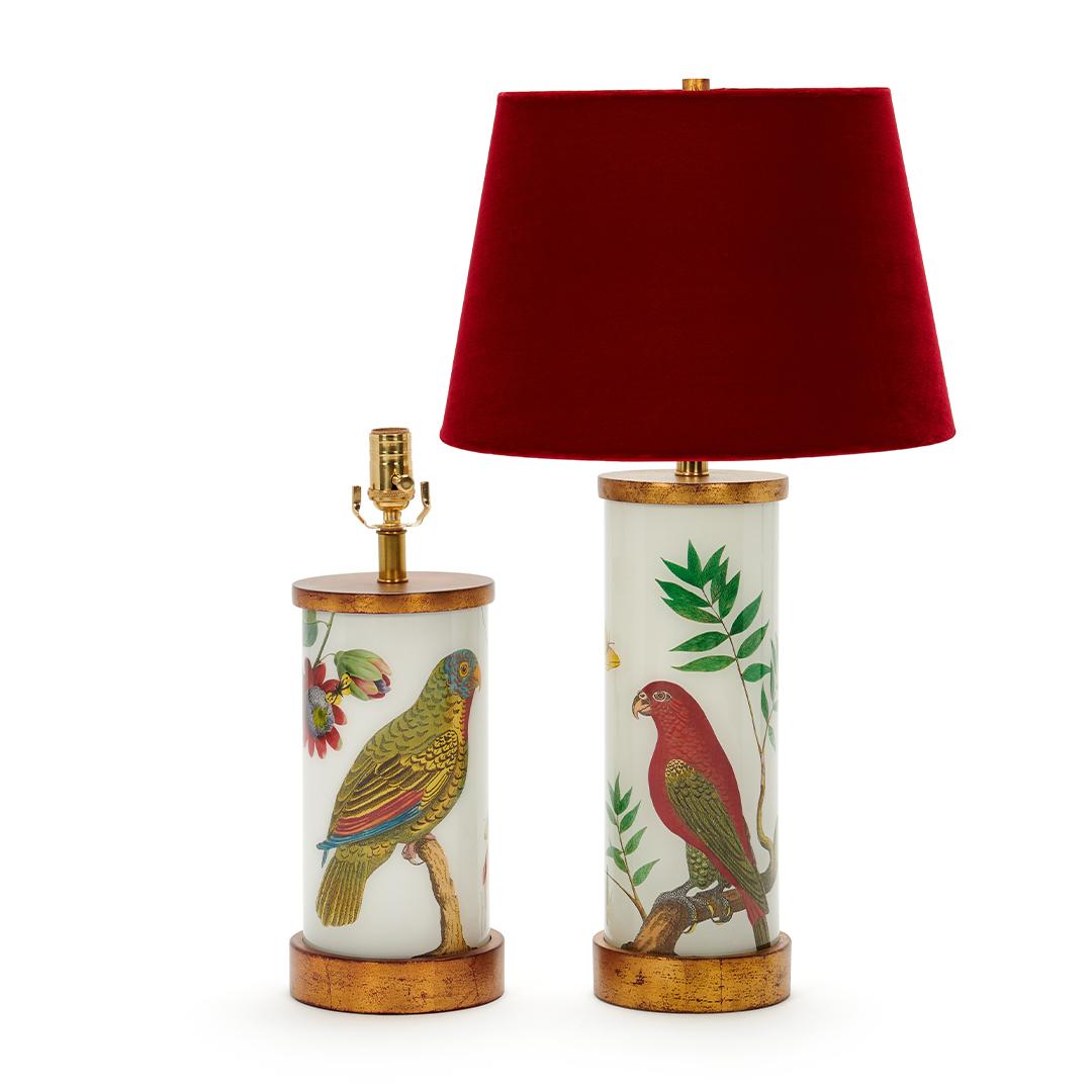 red-shade-parots-eden-lamp-collection-liz-marsh-designs
